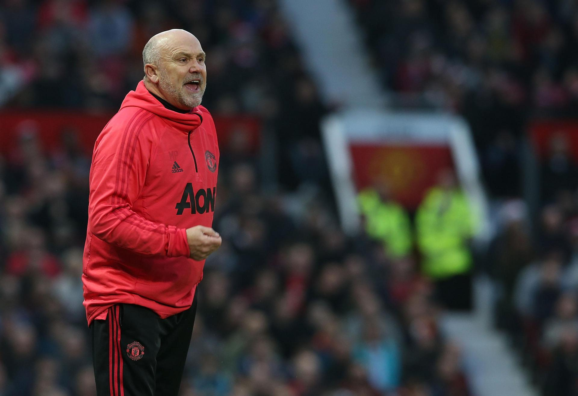 Mike Phelan at Old Trafford.