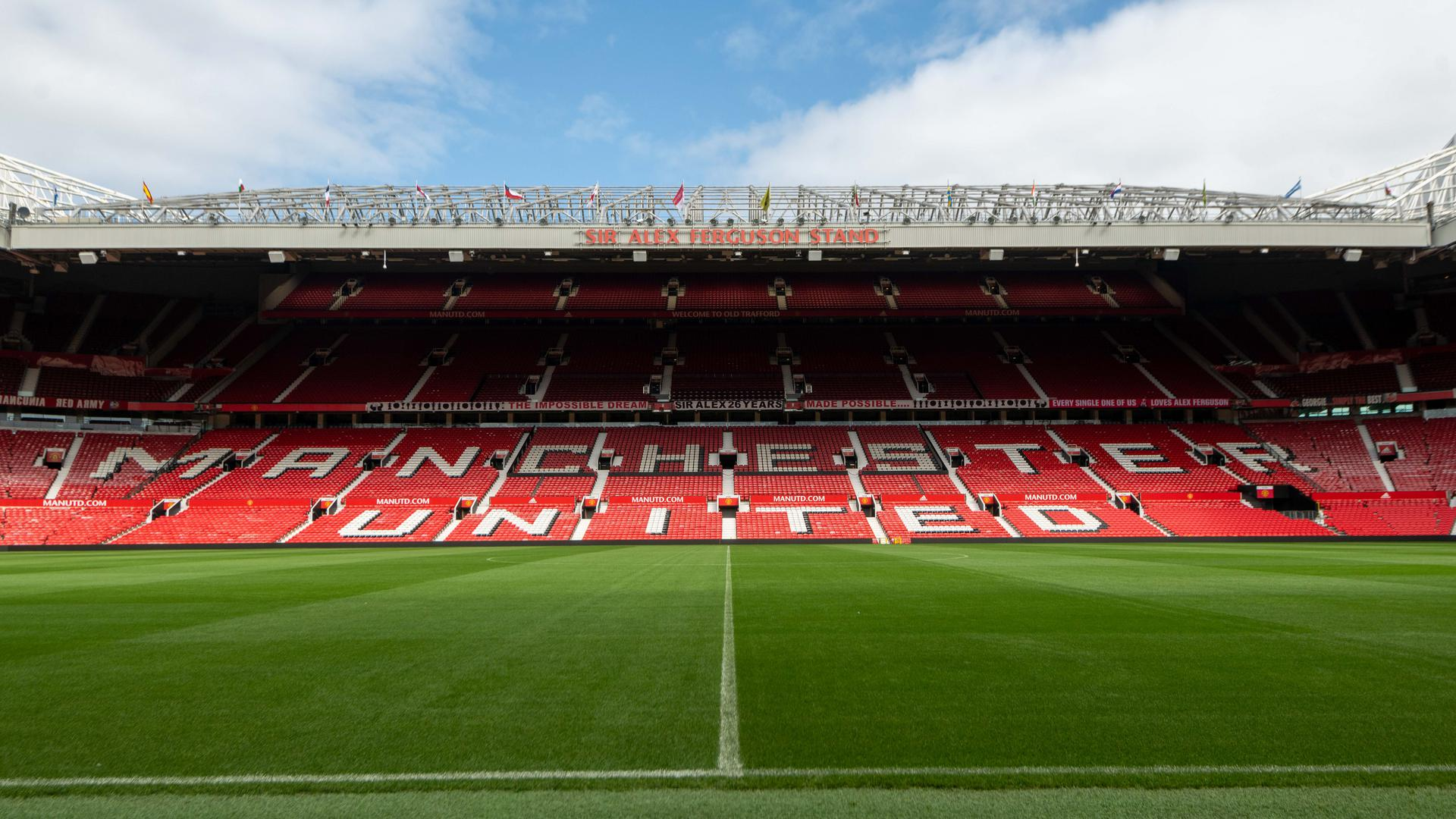 Inside shot of Old Trafford