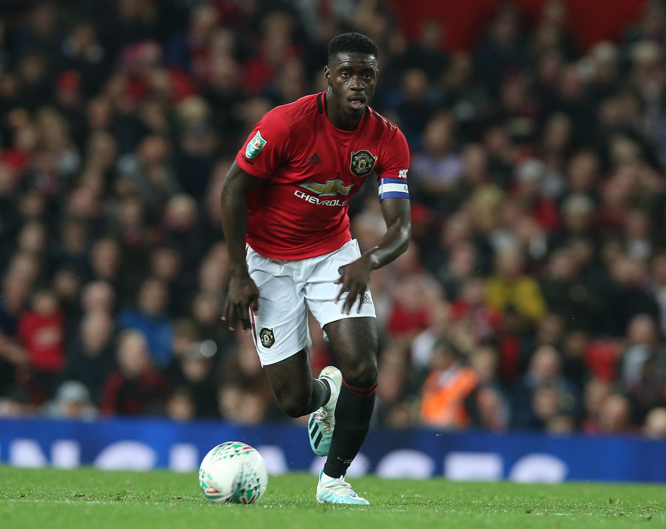 Axel Tuanzebe captai@ning United against Rochdale.