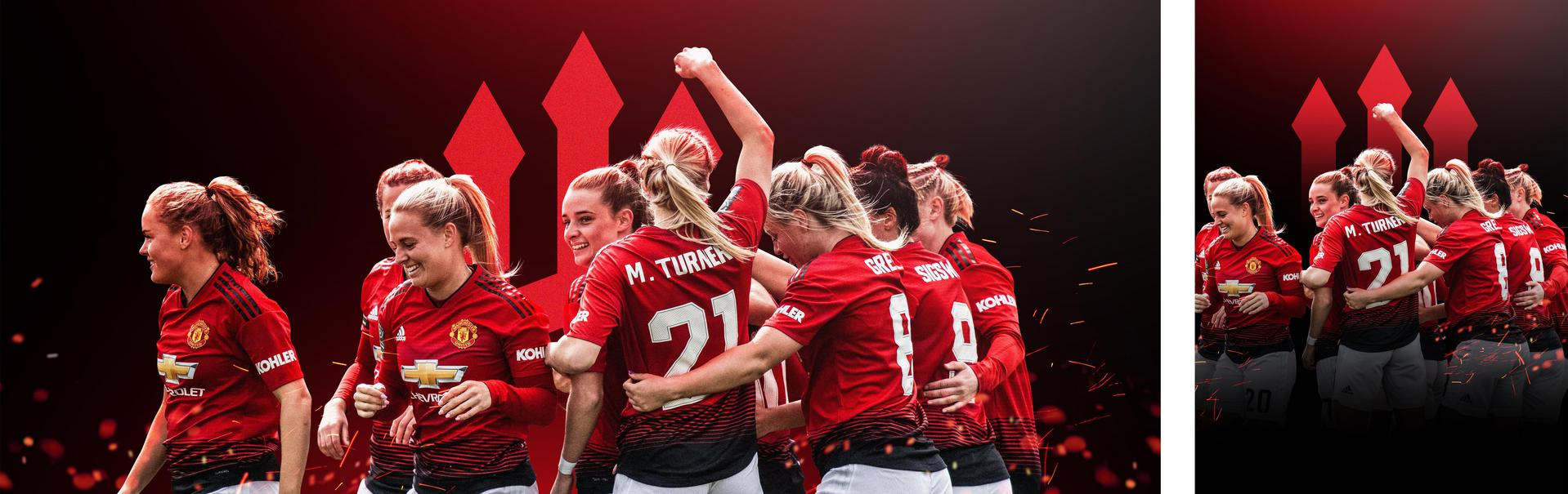 Manchester United Women celebration graphic