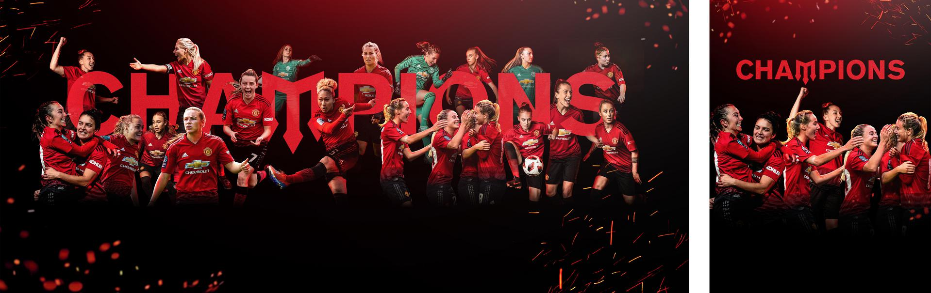 United Women are crowned champions. ,