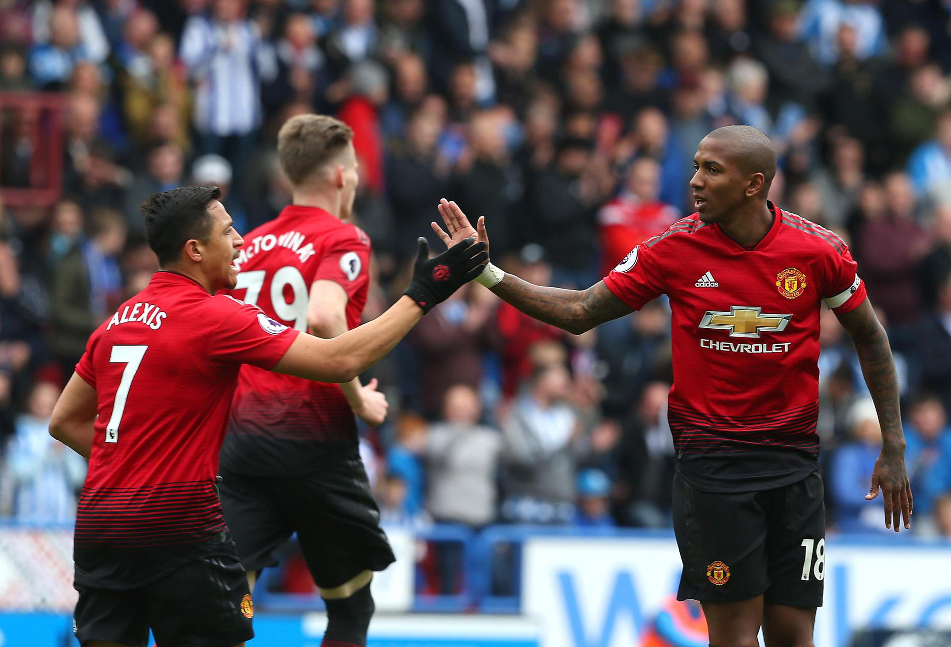 Ashley Young and Alexis Sanchez,