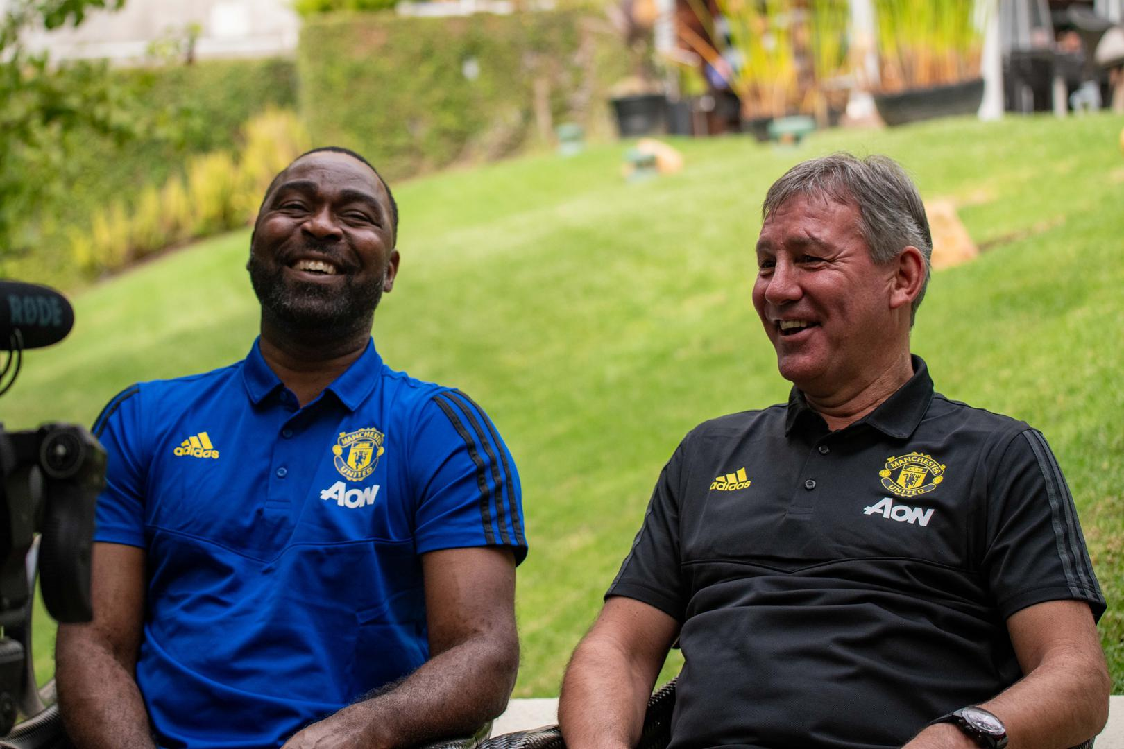 Andy Cole and Bryan Robson