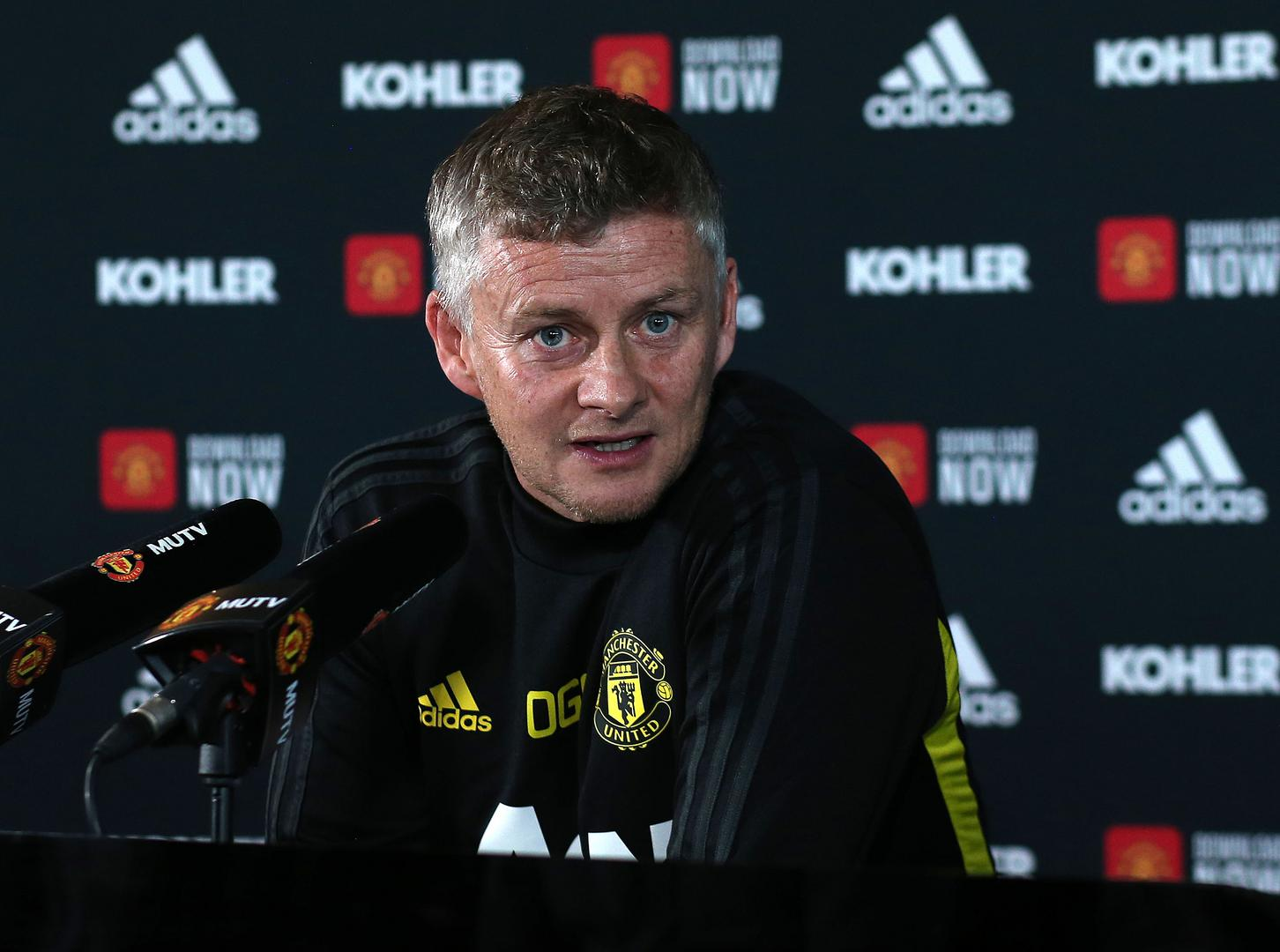 Ole Gunnar Solskjaer in his pre-match press conference