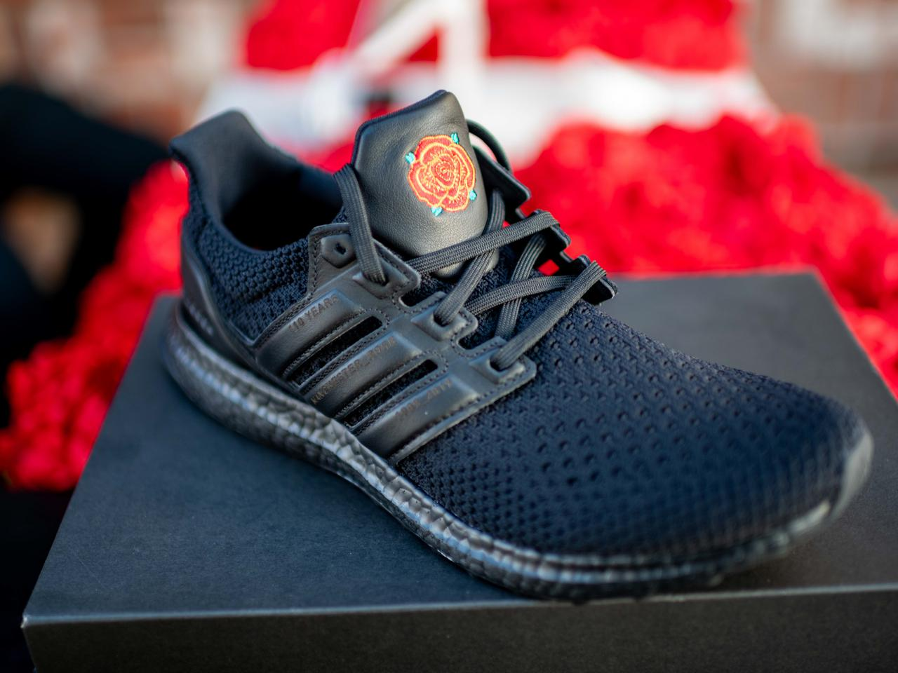 Adidas Man United Ultra Boost Roses Trainers Launch In Los Angeles With Legends Manchester United