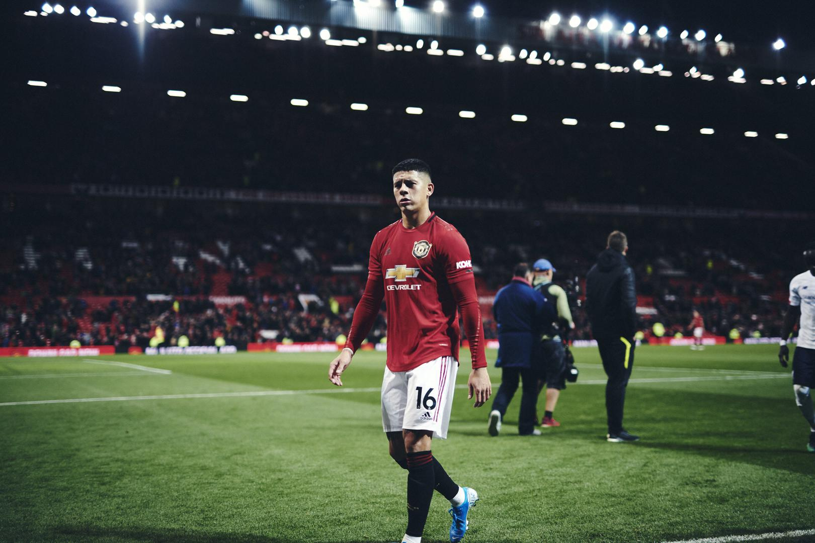 Marcos Rojo after the 1-1 draw with Liverpool.