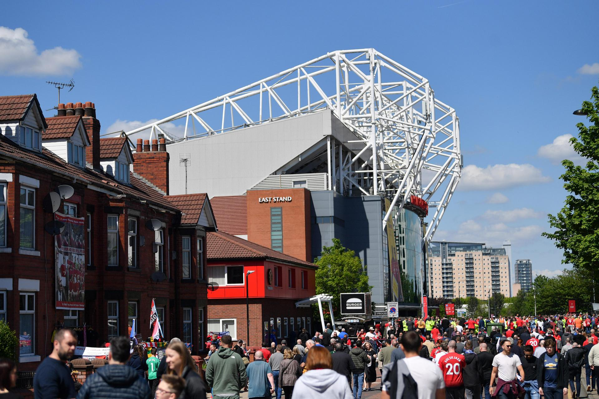 Fans walking to Old Trafford.