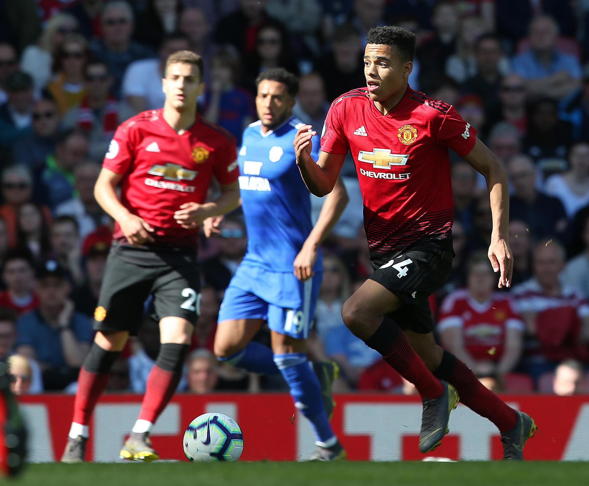 Mason Greenwood in action for Manchester United.