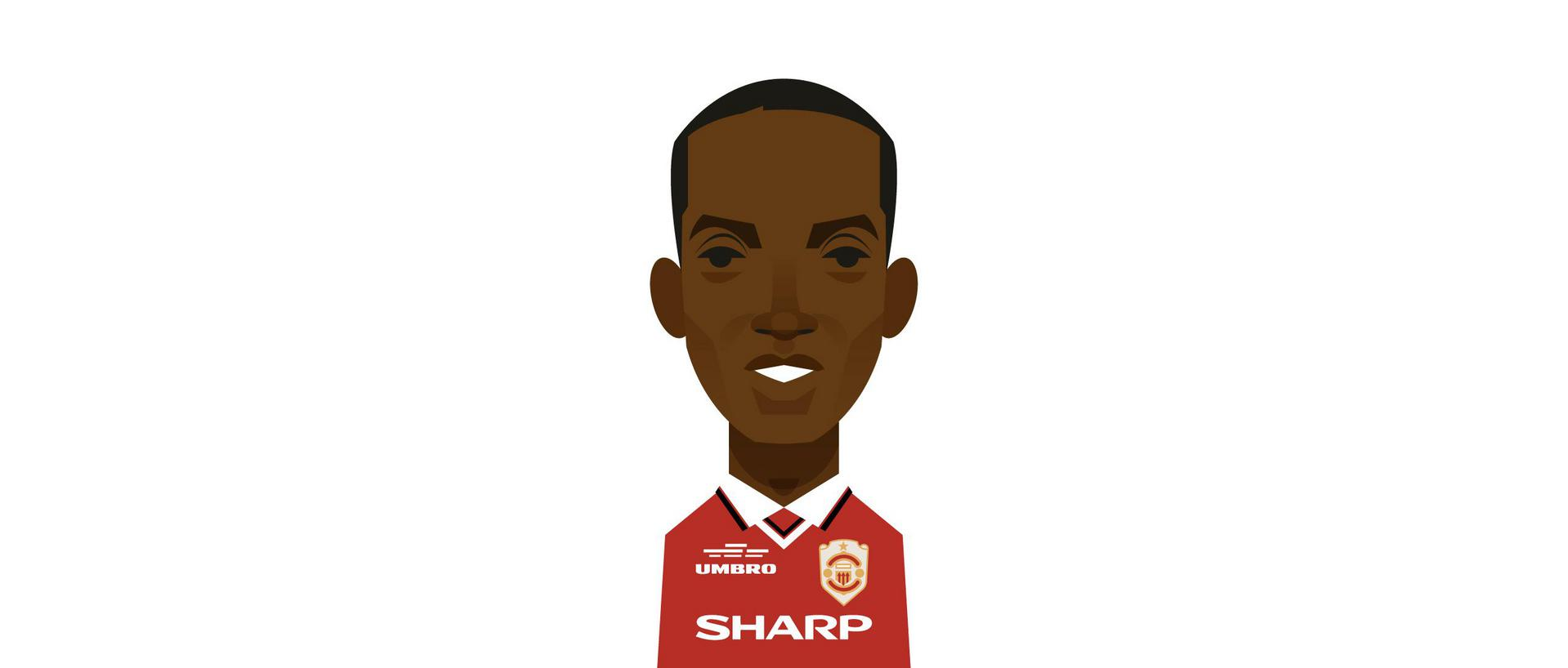 An illustration of Dwight Yorke.