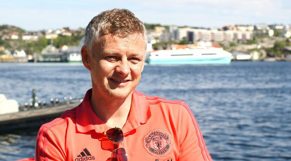Ole Gunnar Solskjaer in the sunshine in his hometown Kristiansund in Oslo, Norway