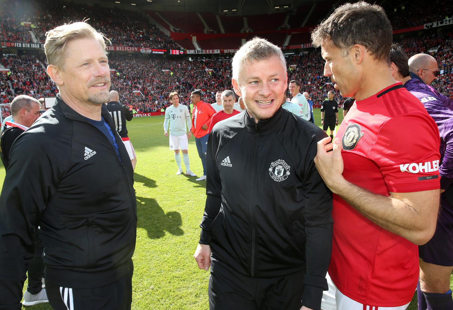 Peter Schmeichel, Ole Gunnar Solskjaer and Ronny Johnsen.