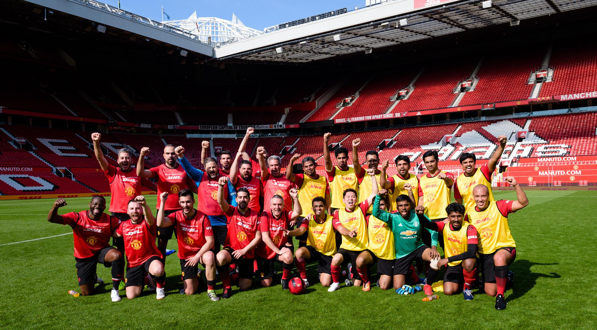 DHL's UNITED. DELIVERED. Global Football Tour finished with a game at Old Trafford in May 2019.