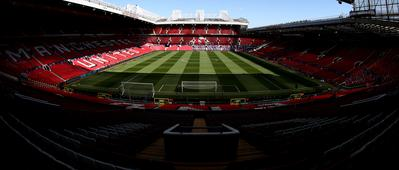 An interior shot of Old Trafford in April 2019.