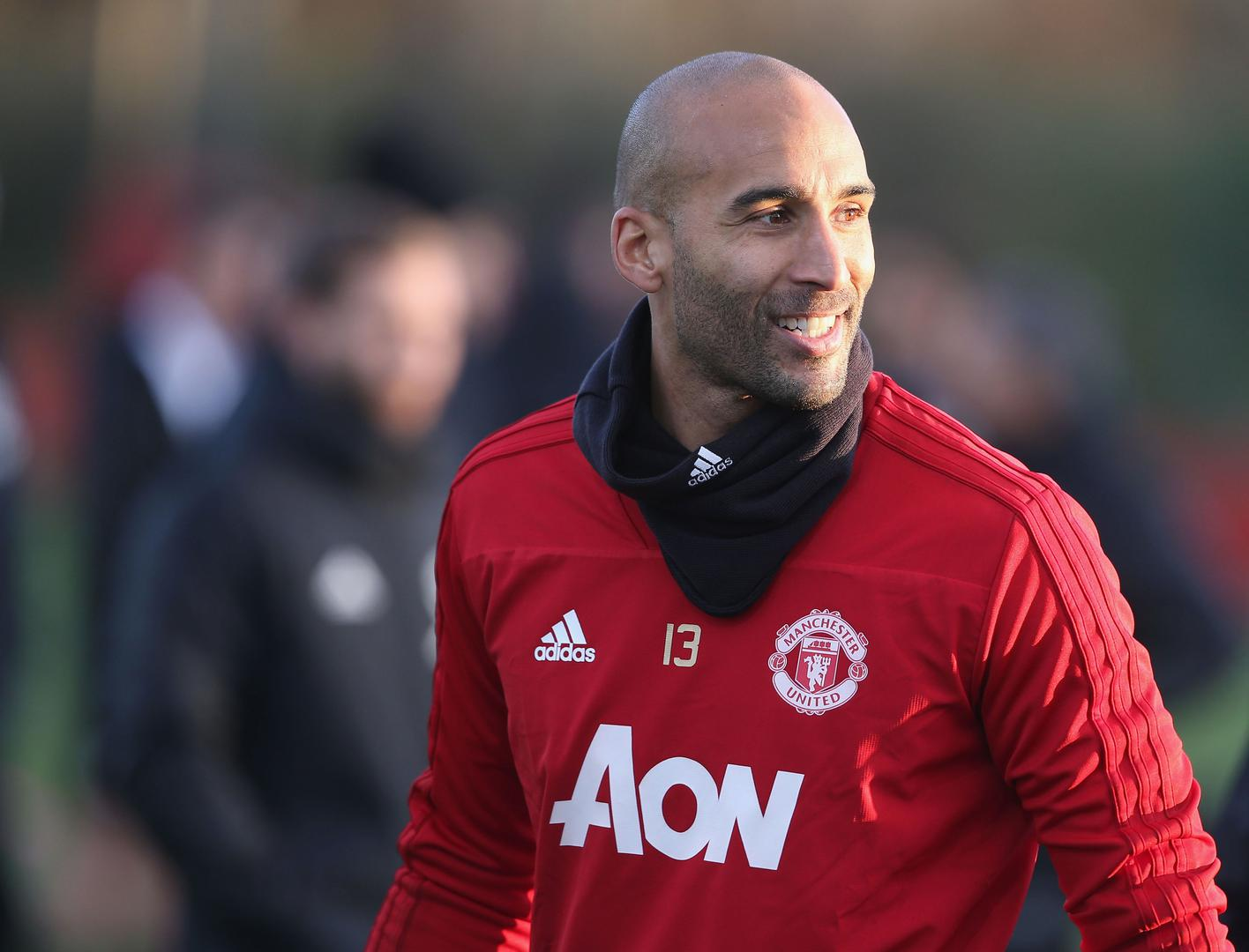 Lee Grant during Manchester United training.