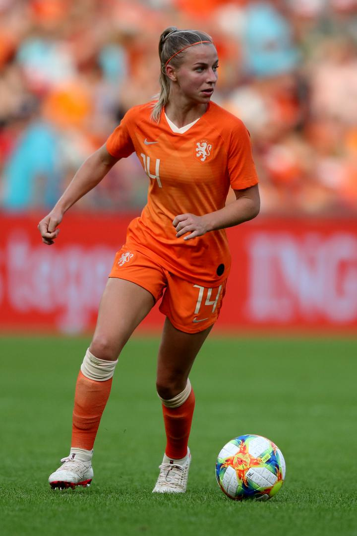 Jackie Groenen in action for the Netherlands.,
