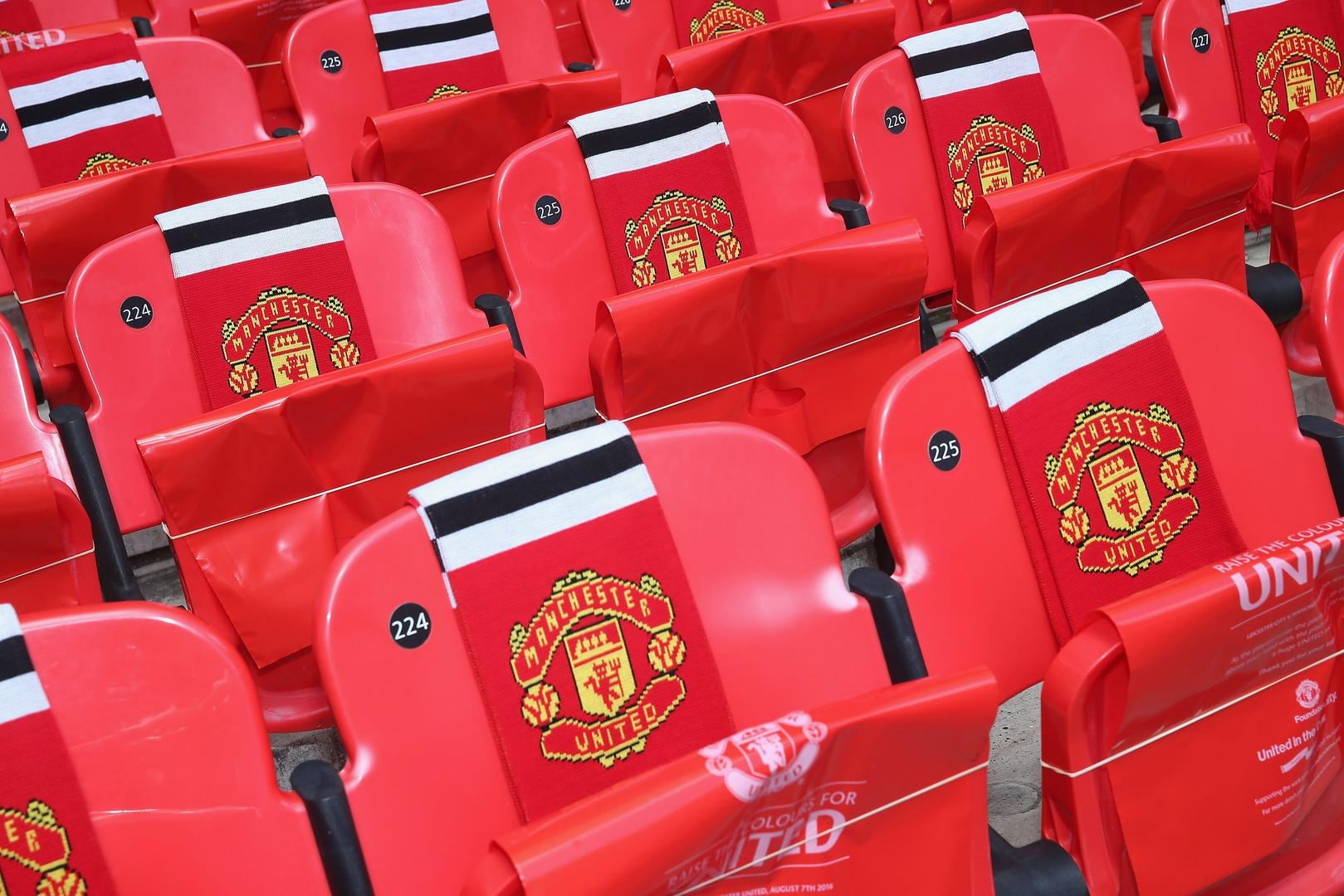 United scarves on seats.