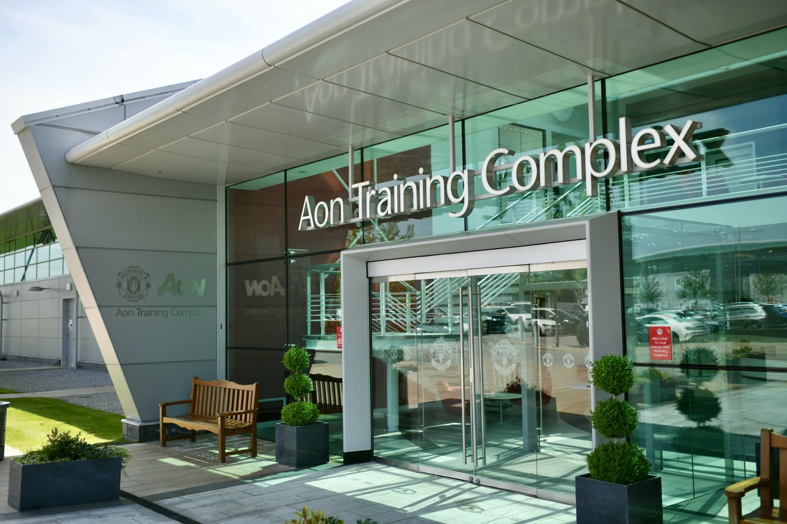 Aon Training Complex main entrance