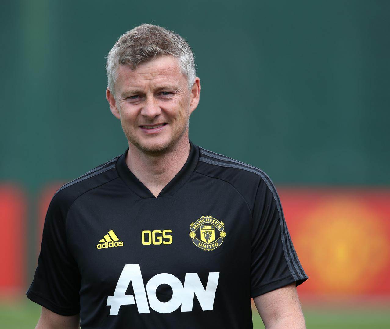 Ole Gunnar Solskjaer in a training session,