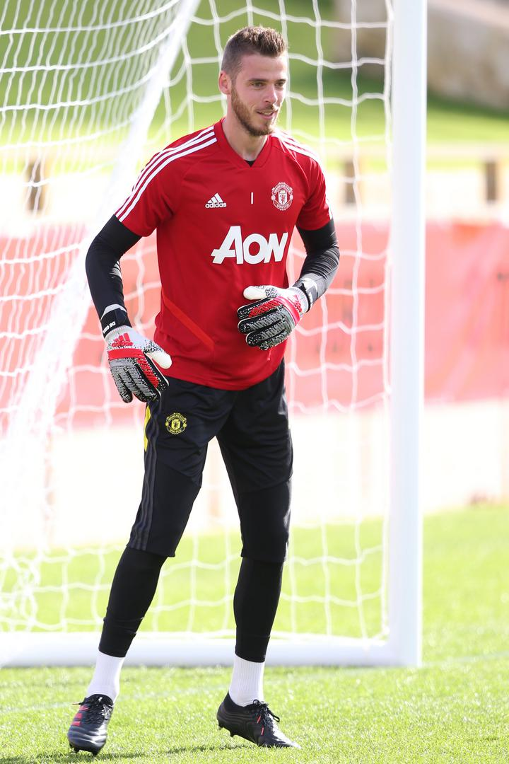 David De Gea takes part in training sessions at the WACA ground in Perth, Australia.