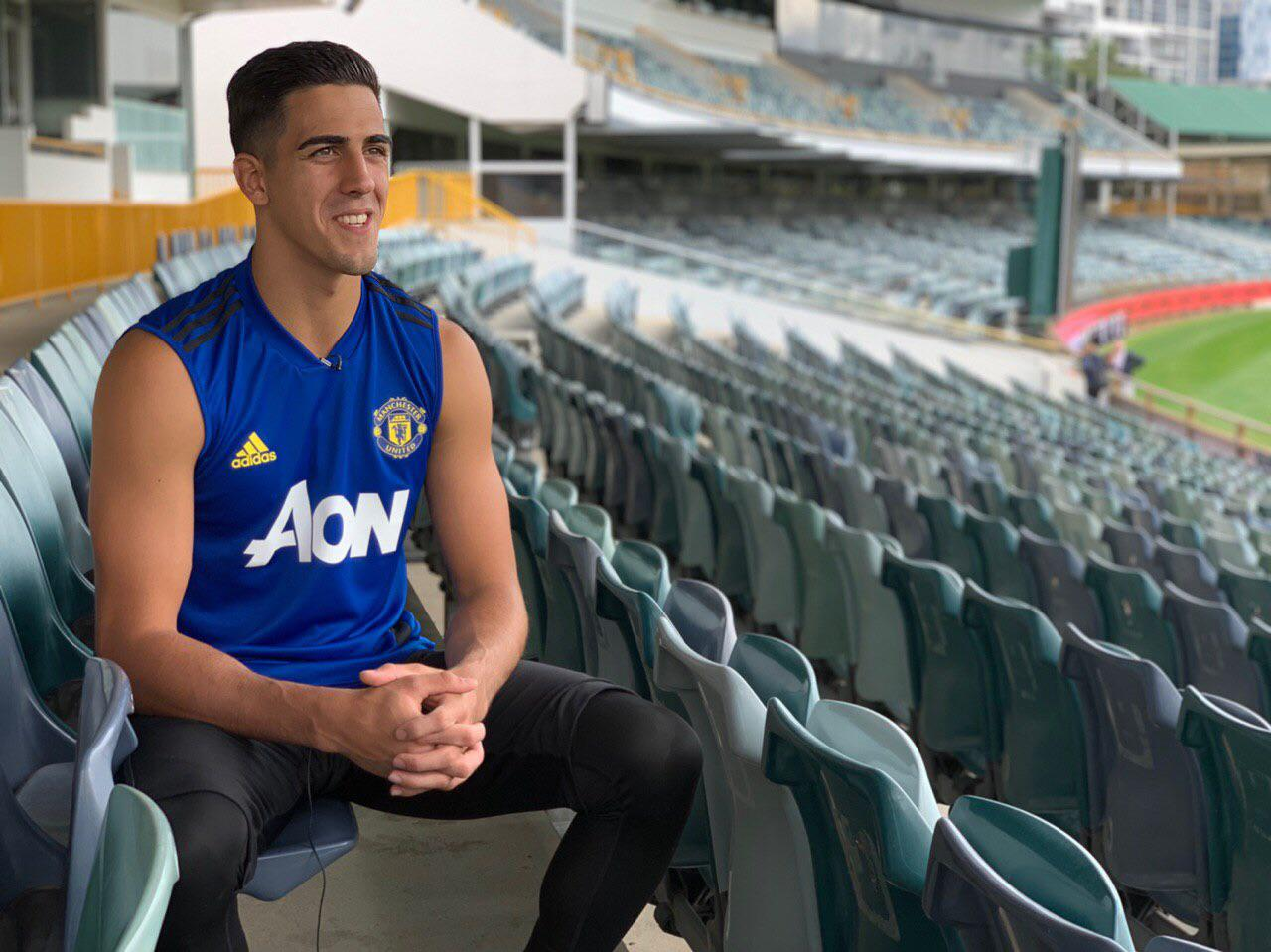Joel Pereira being interviewed in Perth.