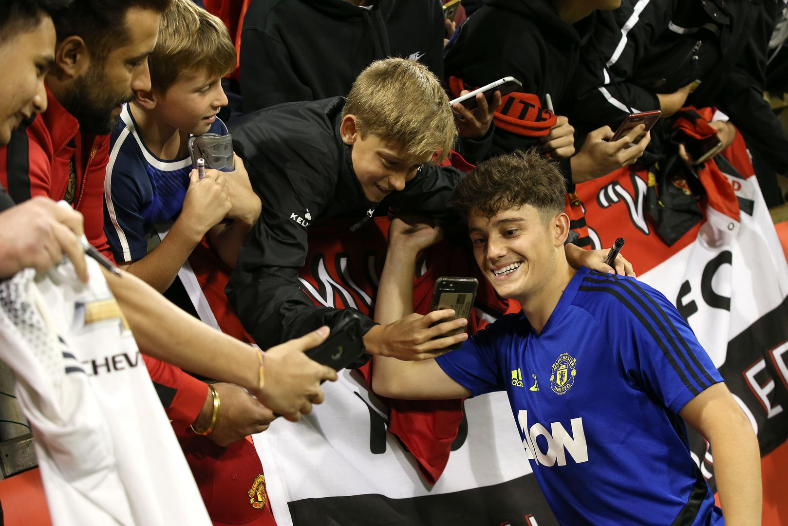 Daniel James meeting United fans in Perth.