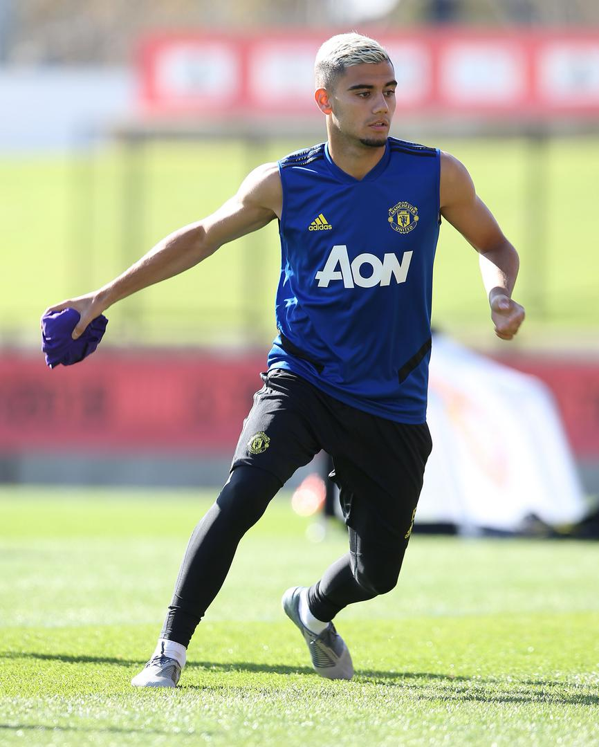 Andreas Pereira during Manchester United's pre-season training in Perth.