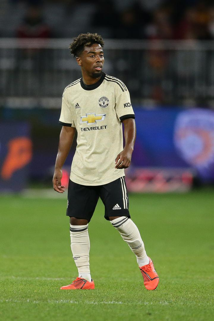 Angel Gomes wears the ndew 2019/20 Manchester United away kit during the pre-season win over Perth Glory