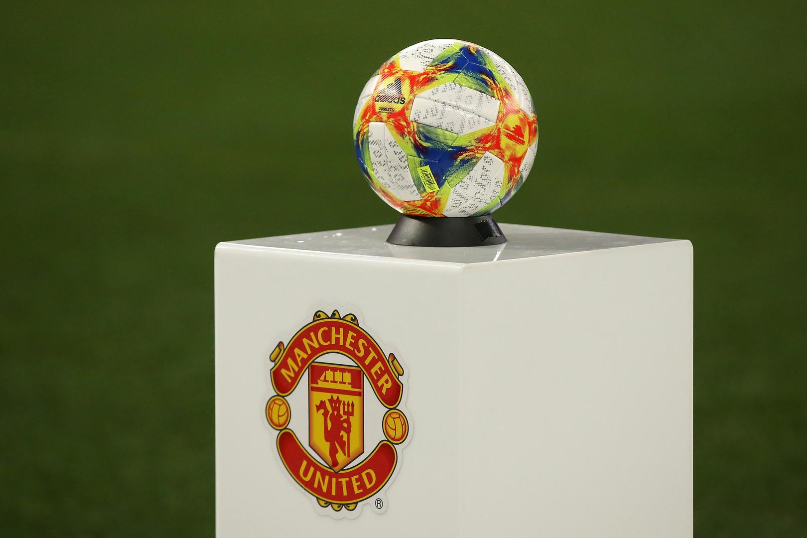 Match ball on a plinth before Manchester United v Perth Glory.