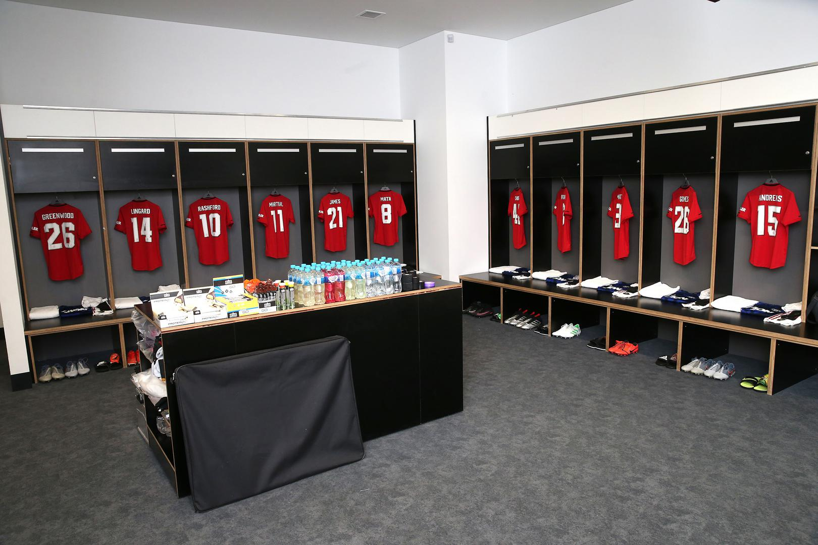 The Man Utd dressing room ahead of the friendly against Leeds United in Perth