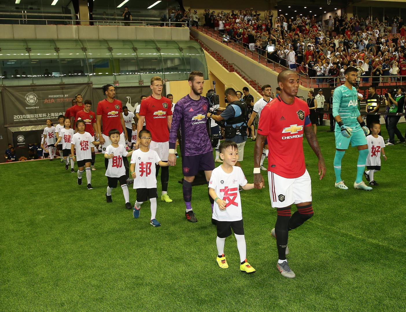 Ashley Young leads Man United out