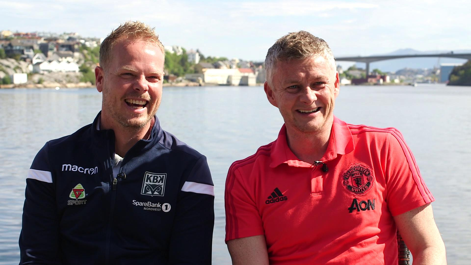Christian Michelsen and Ole Gunnar Solskjaer