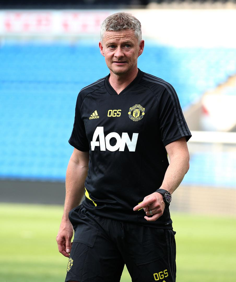 Ole Gunnar Solskjaer during Manchester United training in Oslo.