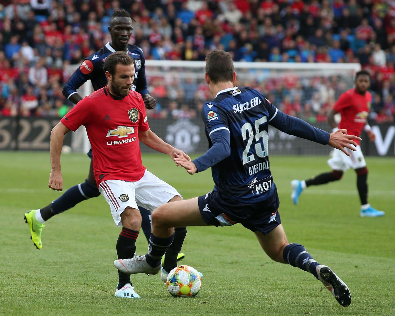 Juan Mata in action against Kristiansund.