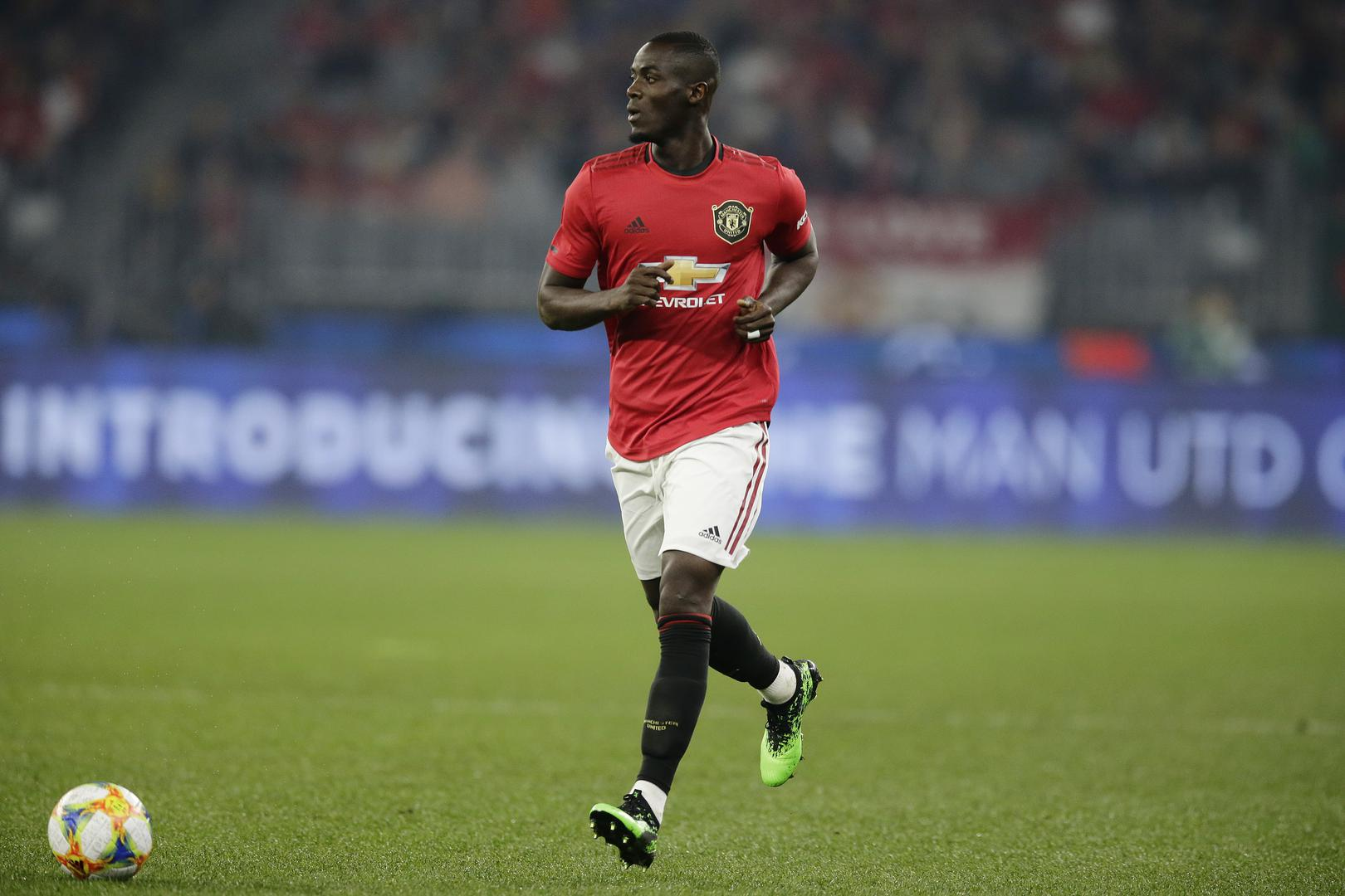 Eric Bailly on the ball during the tour game against Leeds United.