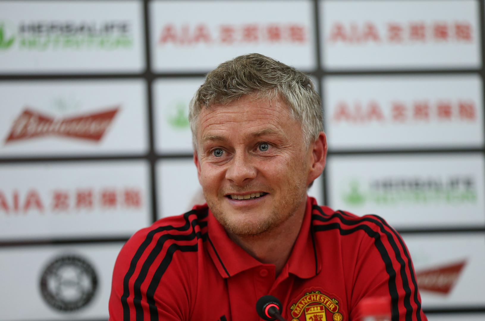 Ole Gunnar Solskjaer during a pre-match press conference in Manchester United's 2019 pre-season.