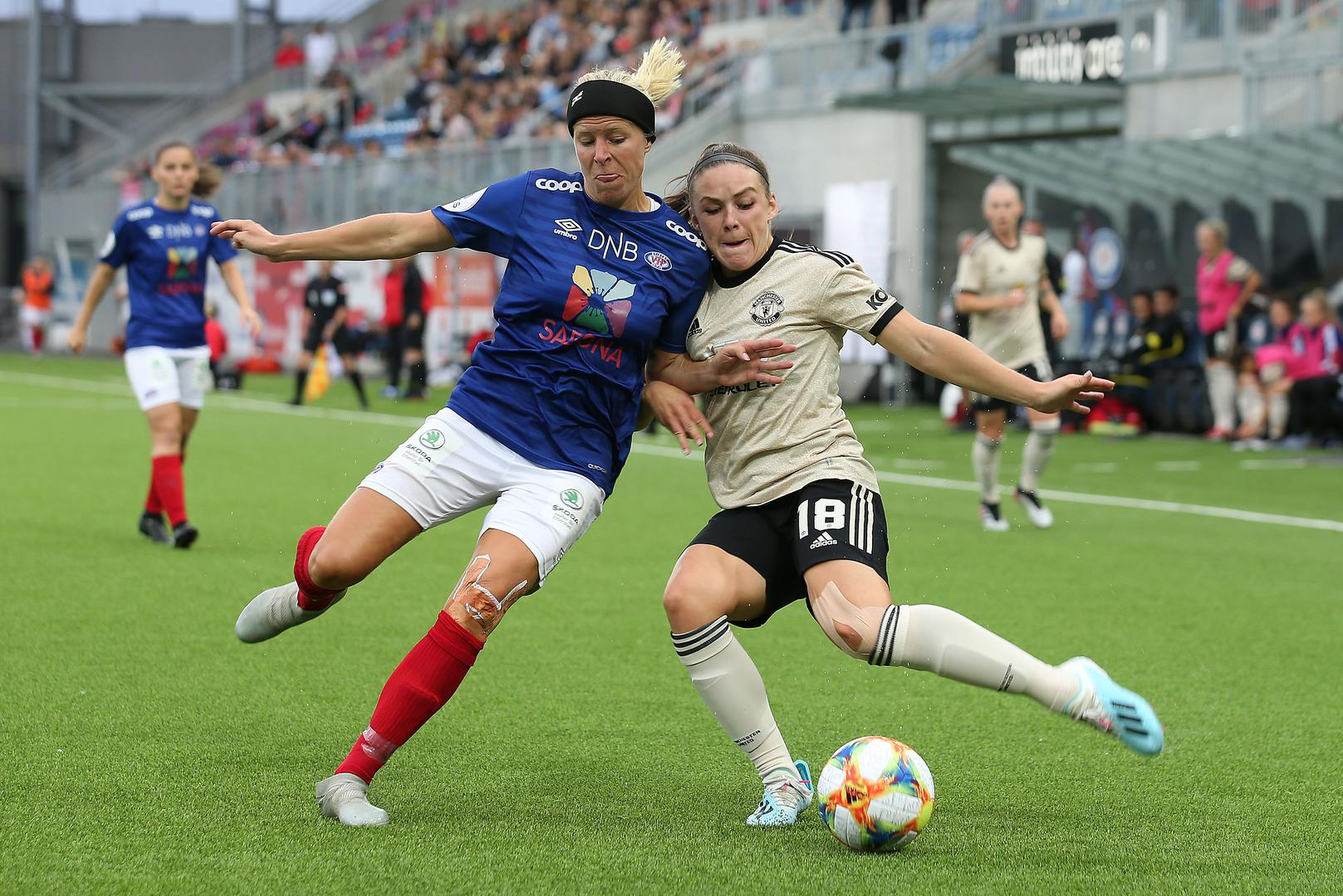 Action from the friendly in Norway against Valerenga for United Women.