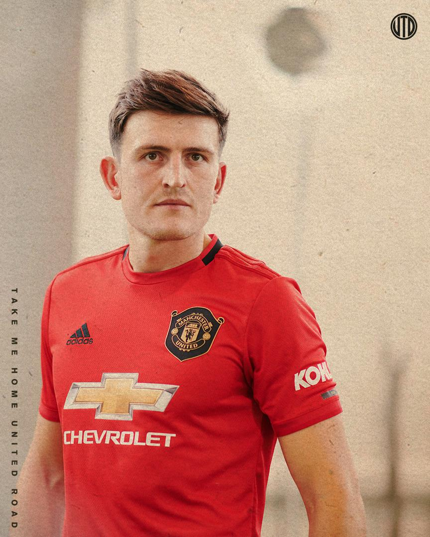 Harry Maguire posing in his United kit.!