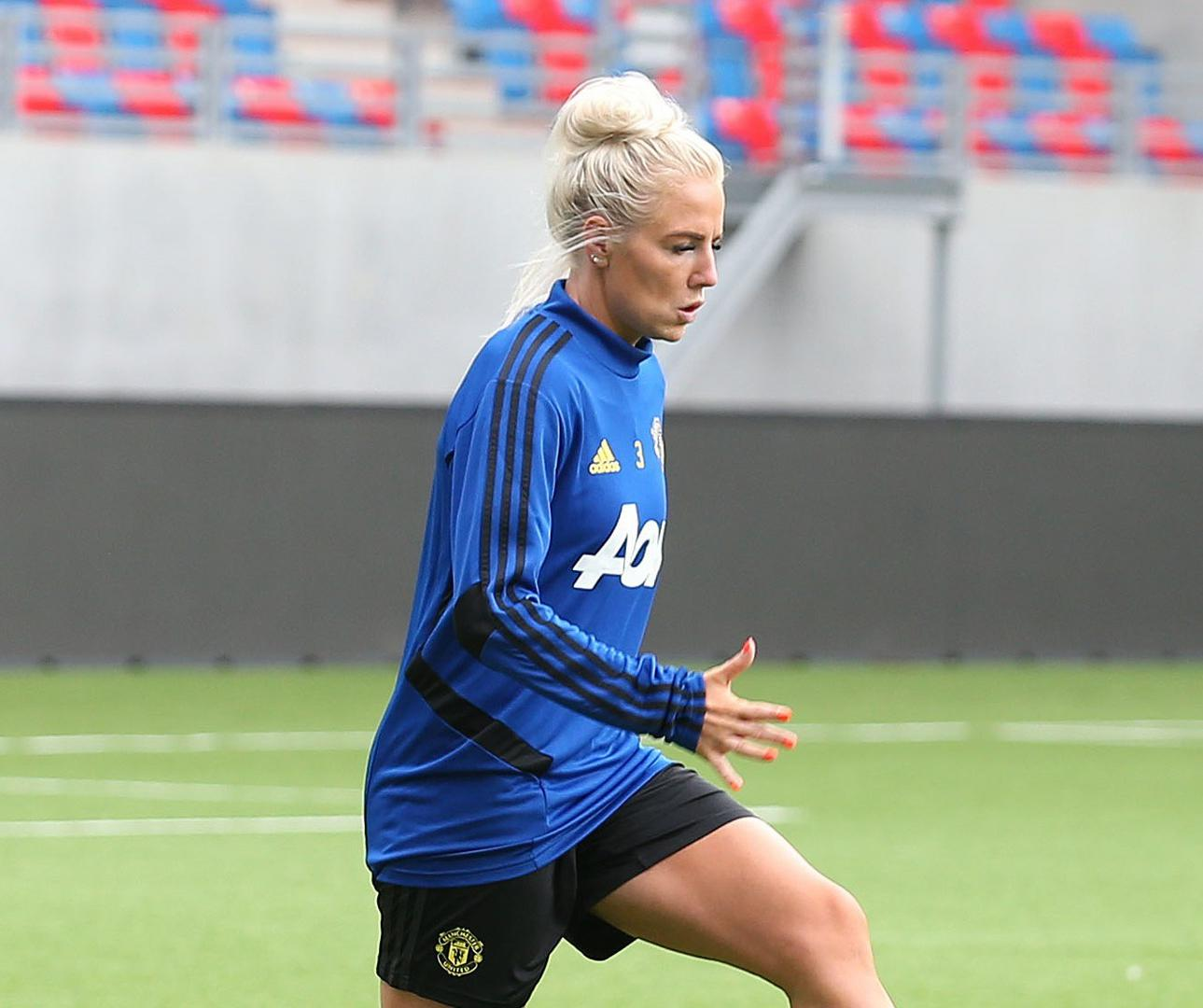 Alex Greenwood in training for United Women.