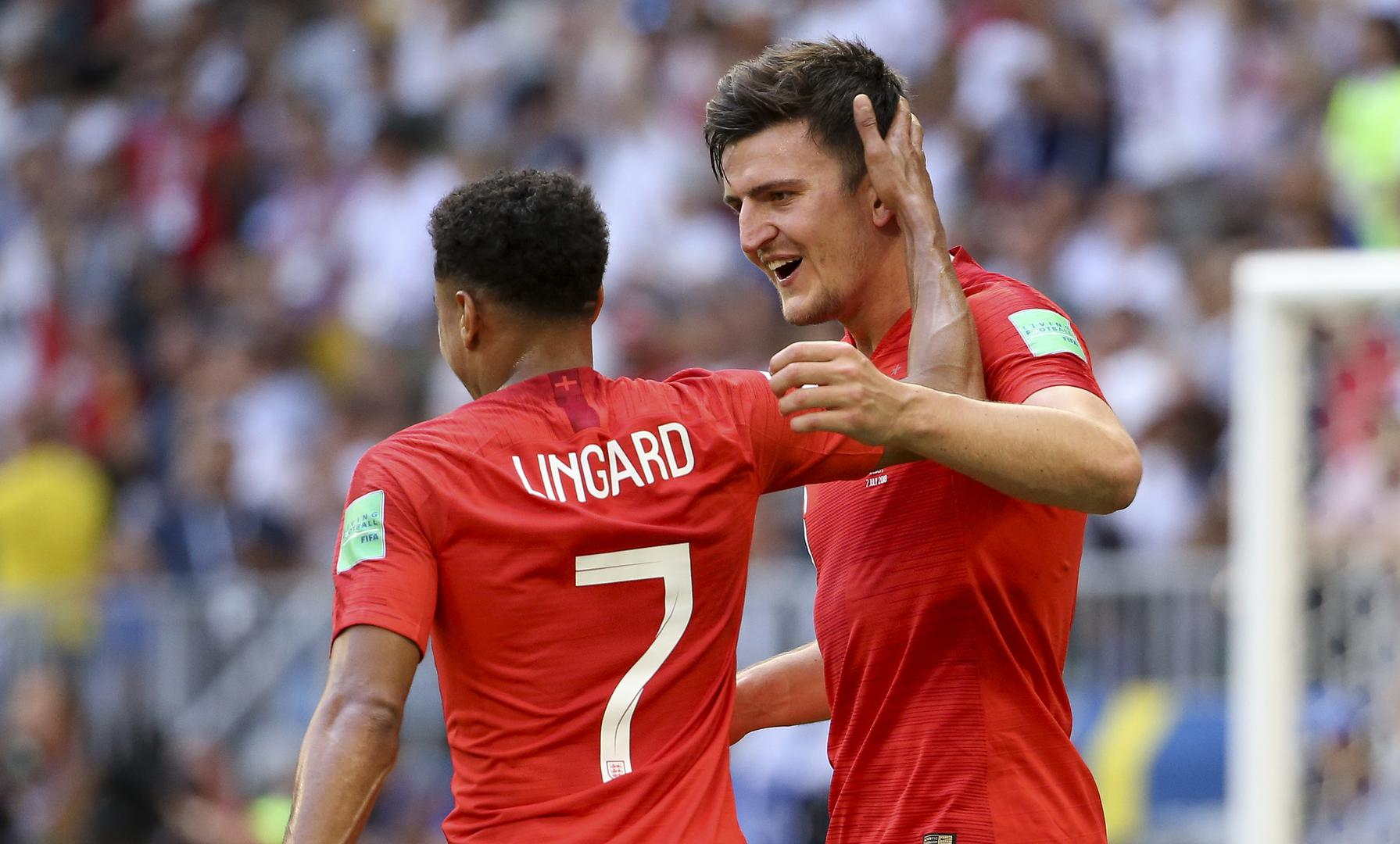 Jesse Lingard and Harry Maguire at the World Cup.