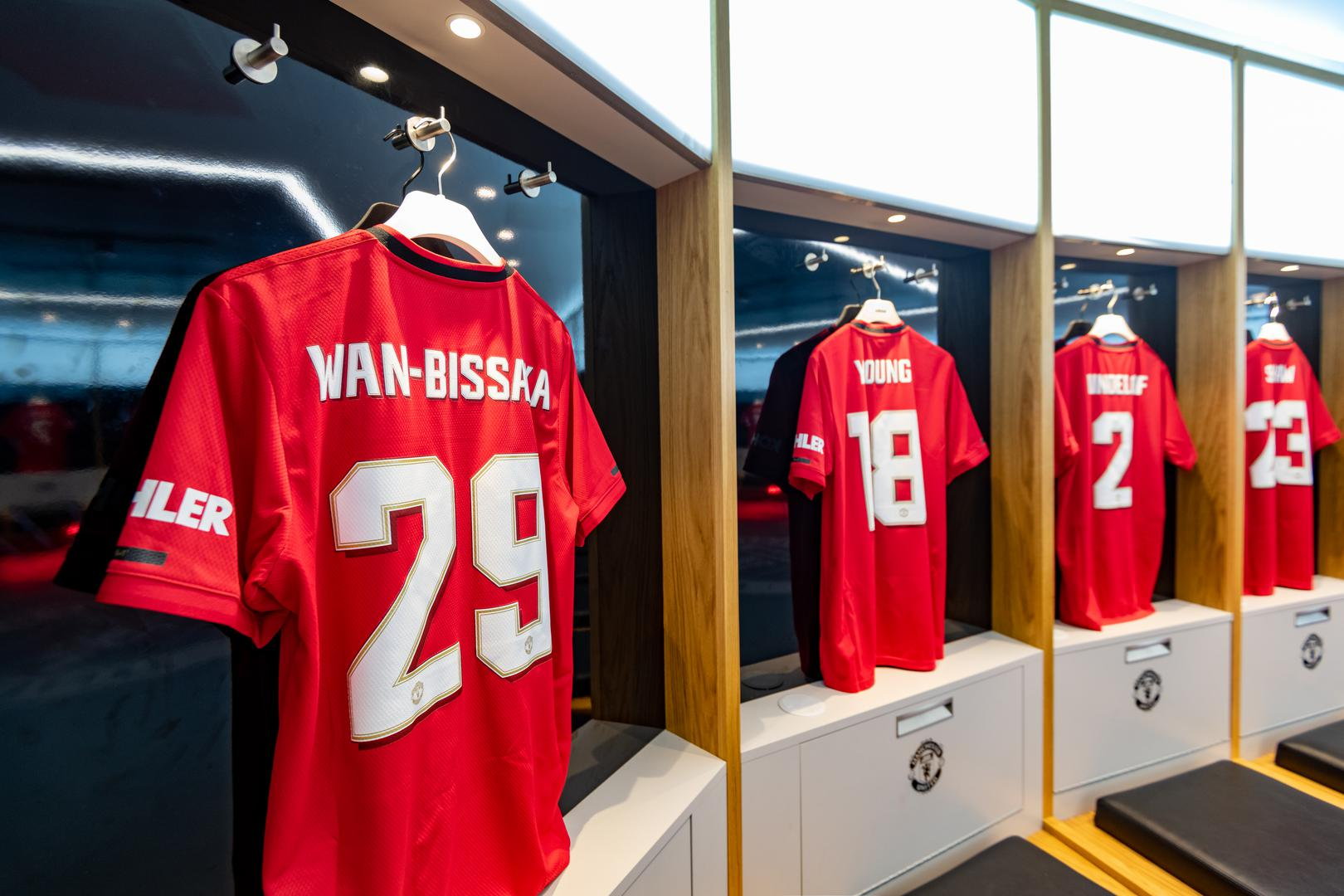The Man Utd dressing room prior to the Chelsea match