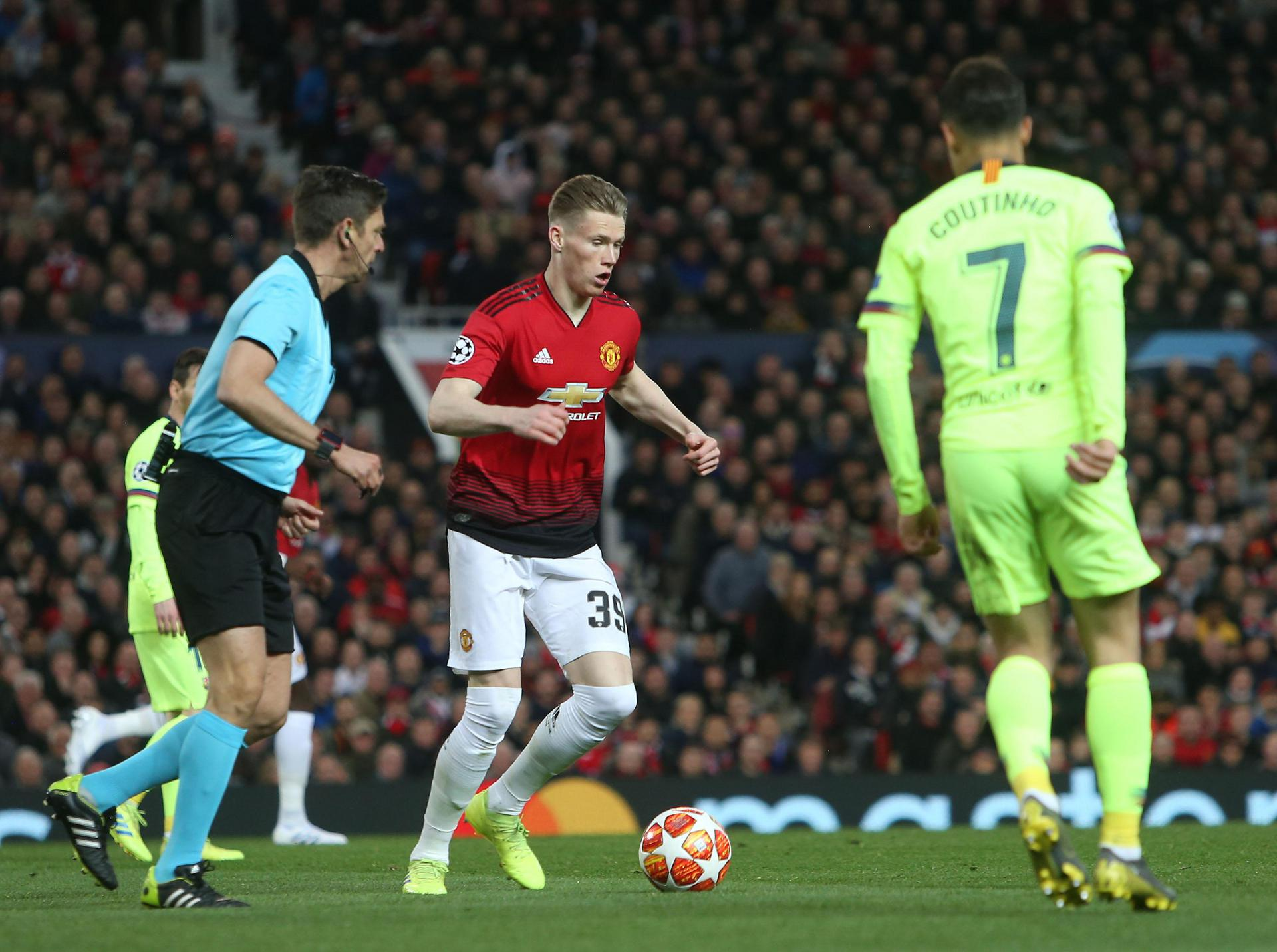 Scott McTominay shows his composure.