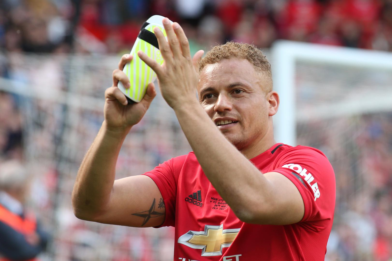 Wes Brown during the Treble Reunion game.