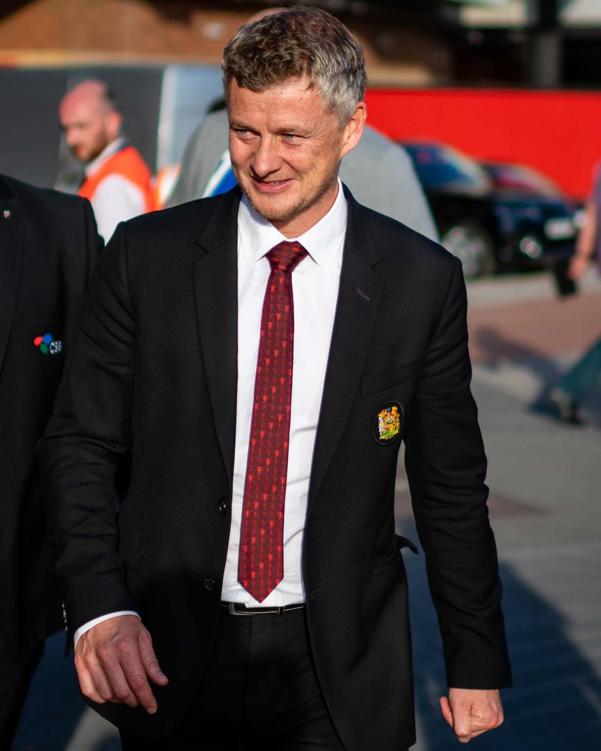 Ole Gunnar Solskjaer arrives for a match at Old Trafford