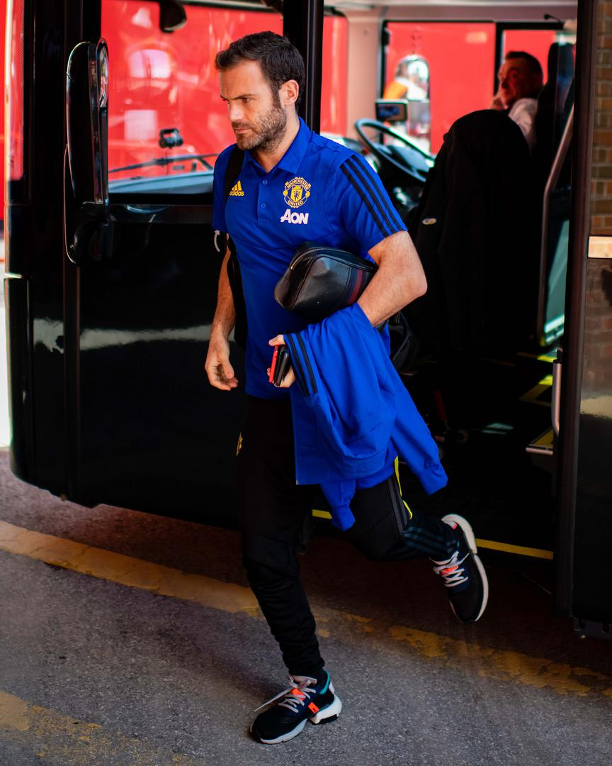 Juan Mata。。 before the Man Utd v Crystal Palace match on Saturday 24 August