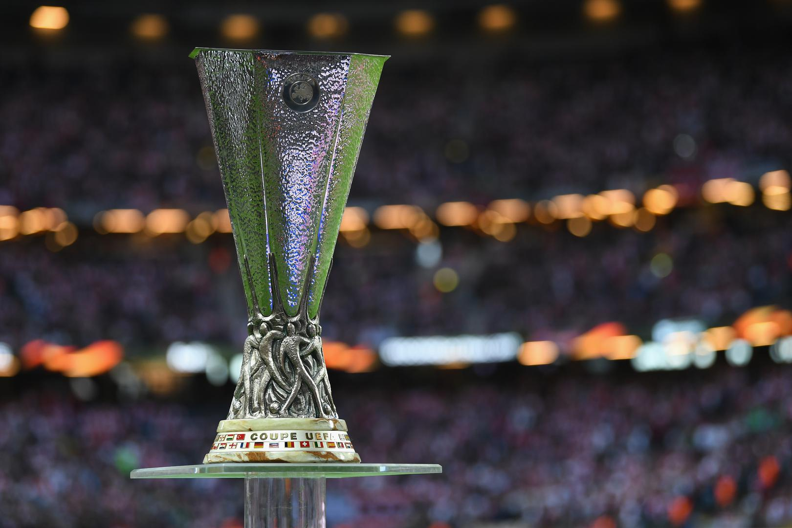 Europa League trophy.,