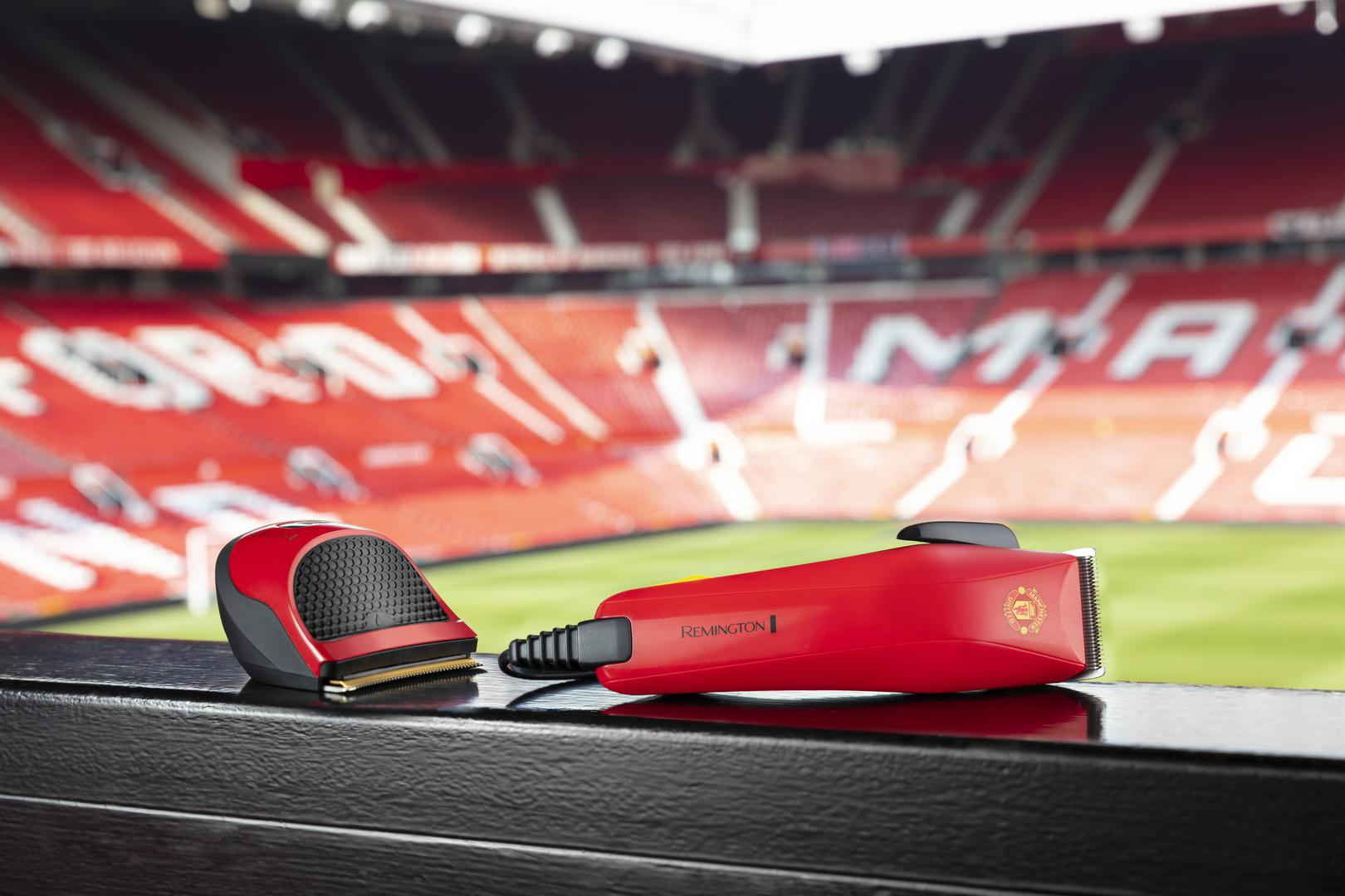 Two of the styling products in the co-branded Remington and Manchester United range
