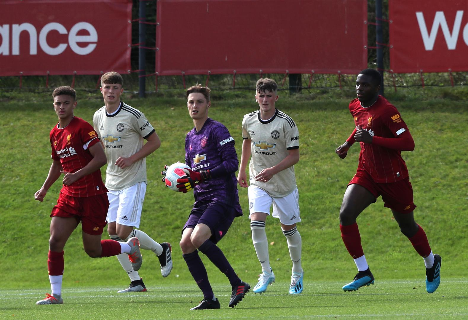 Action from Liverpool Under-18s v Manchester United Under-18s