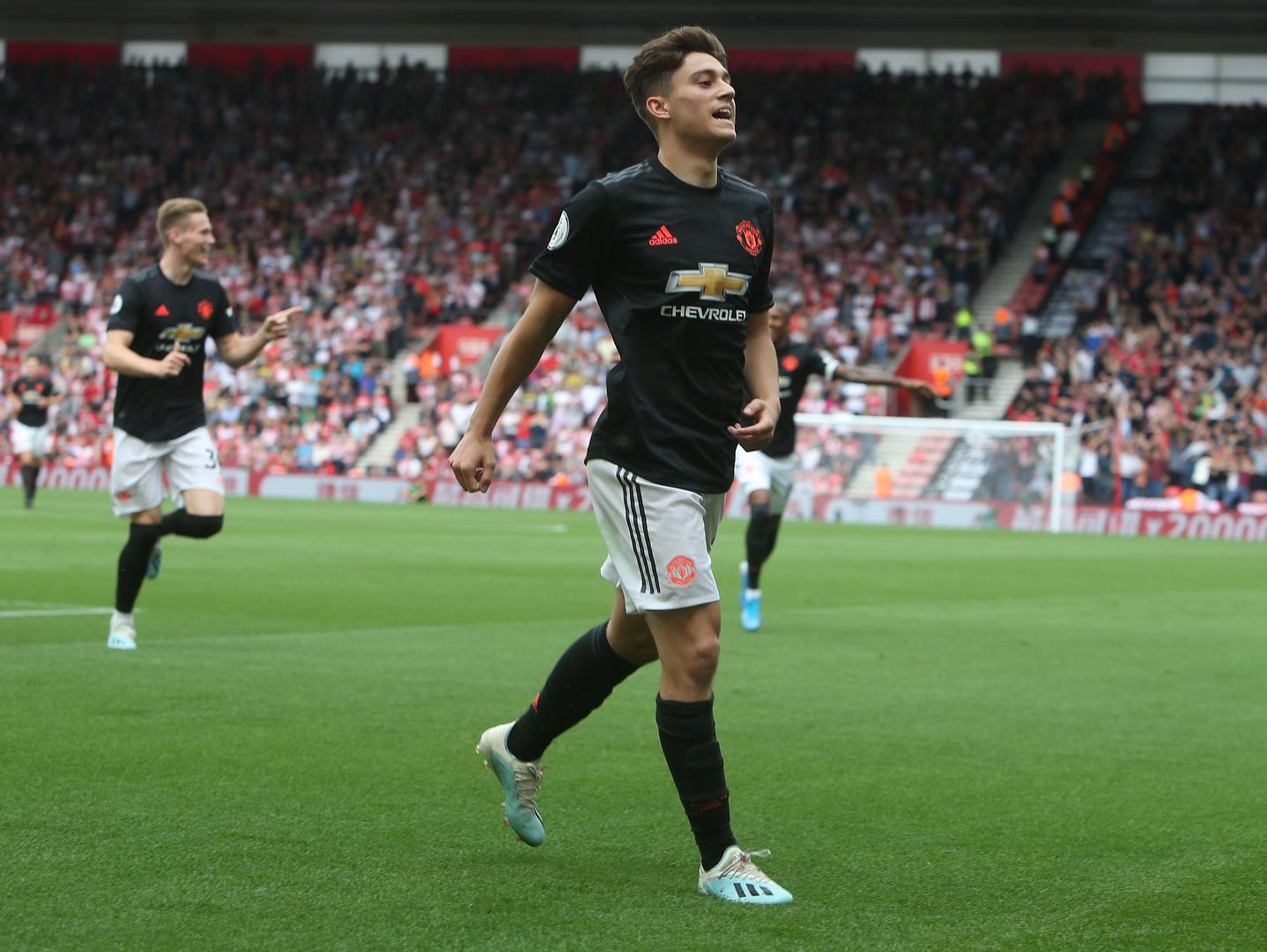 Daniel James celebrates his goal against Southampton