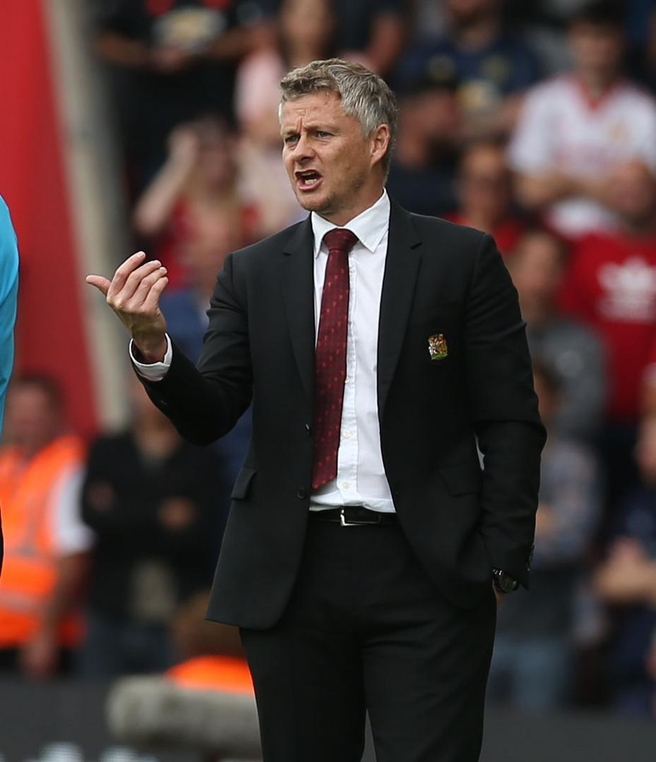 Ole Gunnar Solskjaer 。。during Manchester United's 1-1 draw with Southampton.