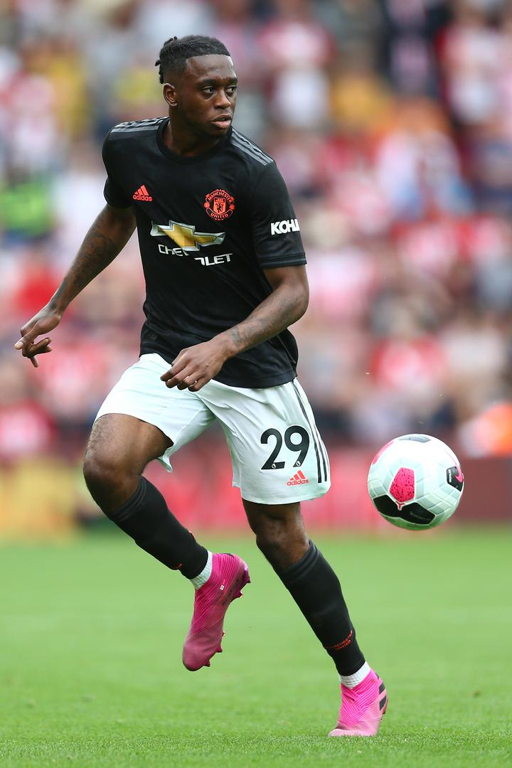 Aaron Wan-Bissaka during Manchester United's Premier League game with Southampton.